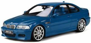 OTTO-MOBILE-790-BMW-E46-M3-resin-model-car-Laguna-Seca-blue-Ltd-Ed-2000-1-18th