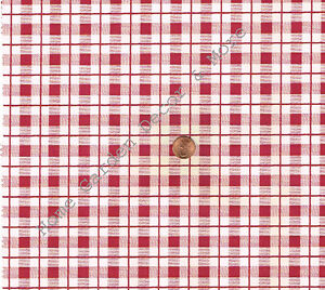 Red White Plaid Gingham Check Vinyl