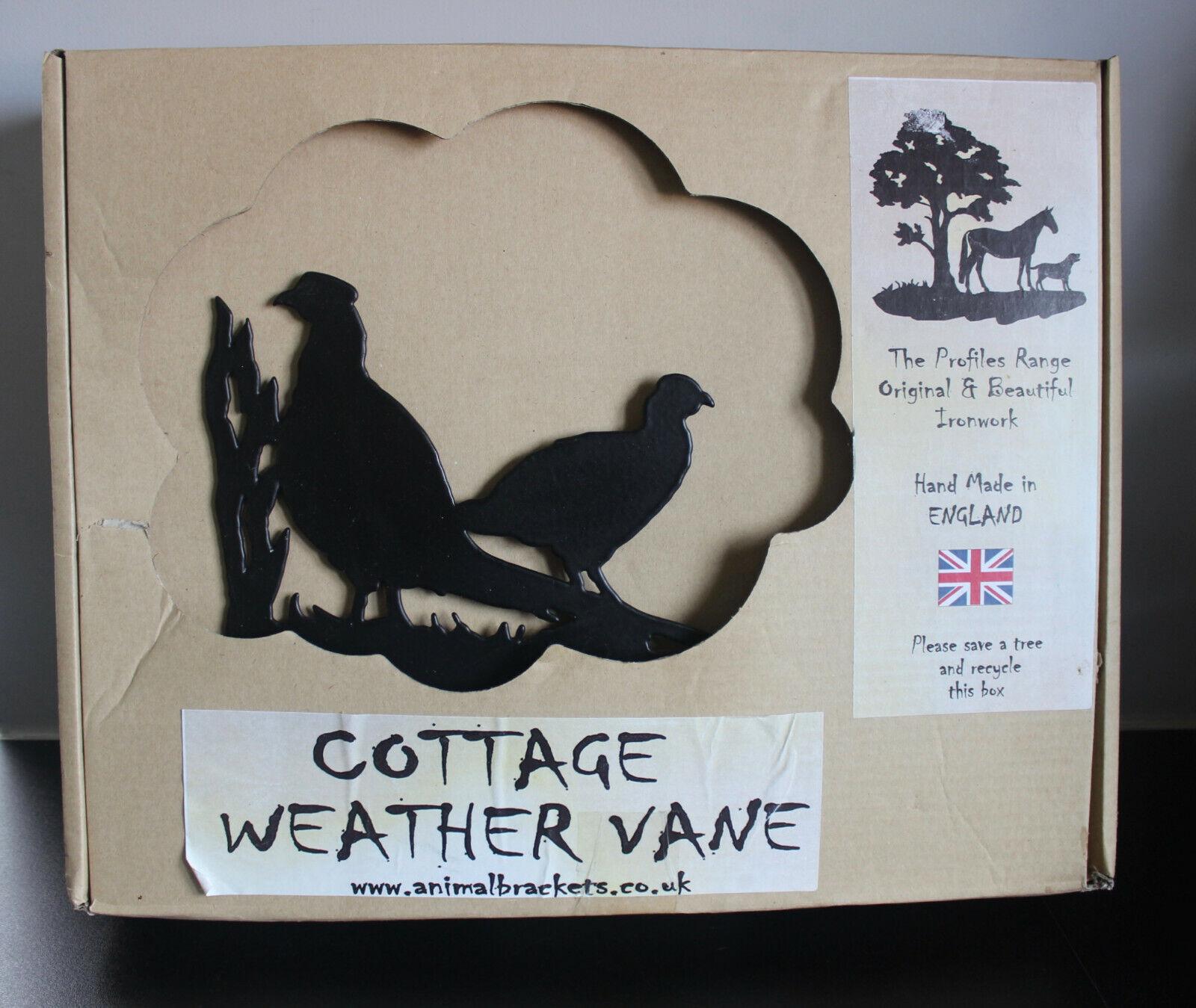 BNIB - British Made - Animal Brackets Cottage Weather Vane - Pheasants - 51 x 51