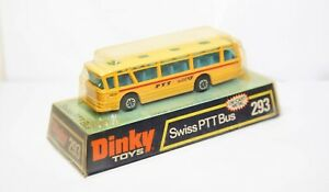 Dinky-293-Swiss-PTT-Bus-In-Its-Original-Box-Near-Mint-Vintage-Original-Model