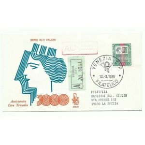 1979-FDC-Venetia-N-462-It-Italy-Alto-Value-L-3000-Viaggiata-Covered-MF437