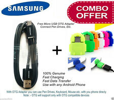 Original Samsung Micro USB Cable + Android Robot OTG Adapter Mobile Mouse Combo