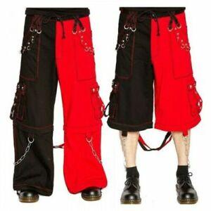 Gothic Dead Thread Bondage 8 pocket Men Punk Rock Trouser Pant Shorts Metal