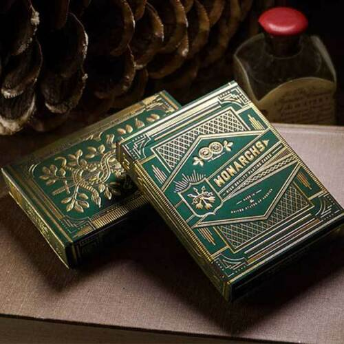 Green Monarch Playing Cards Deck Theory11 Magicians /& Collectible