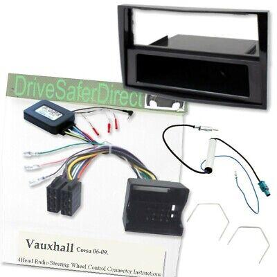 SWC-8412-c Volante Adaptador//Facia Kit Para Radio Iso//Opel Corsa C 00-04