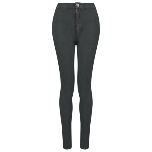 Women/'s Dark Grey Denim Skinny Stretchy Jeans Comfortable Casual Everyday Wear