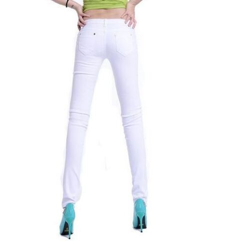 Womens Ladies Mid High Waisted Black Blue Skinny Fit Denim Jeans Trousers UK
