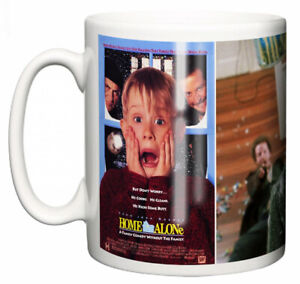 "Macaulay Culkin Mug ""Classic 90's Hollywood Movie Poster Home Alone"" Coffee Gift"
