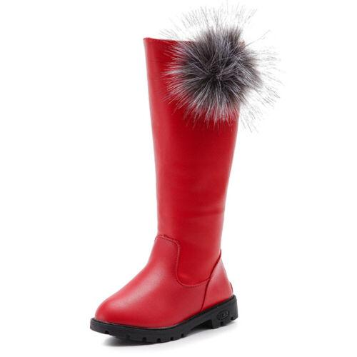 Girls Long Flat Boots Kids Children Anti-Slip Knee High Riding Boot Casual Shoes