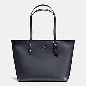 NWT-COACH-City-Zip-Tote-in-Midnight-Leather-Shoulder-Bag-Satchel-Handbag-Purse