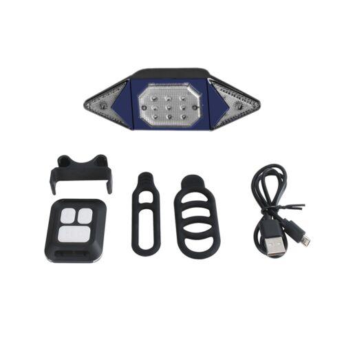 Bike Light Rear Turn Signal Wireless Remote Control LED Taillight Bicycle USB