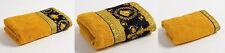 Versace Barocco & Robe Medusa 3 pieces Towel Set = 1Bath 1Hand 1Face - BlackGold