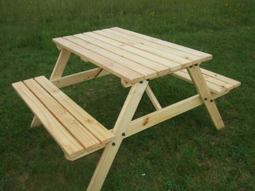NEW HAND MADE 5FT PATIO GARDEN PUB PICNIC BENCH TABLE SEAT  SALE