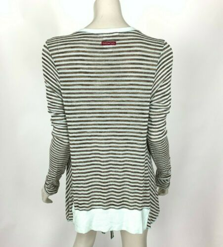 Hard Tail One Button Long Sleeve Cardigan Striped