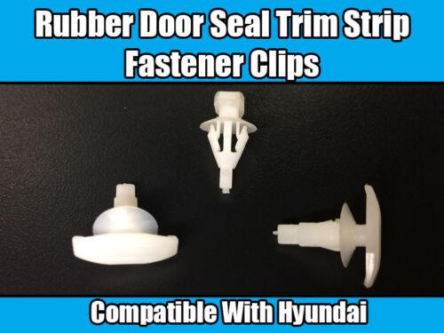 50x Clips For Hyundai Rubber Door Seal Weatherstrip Trim Fastener Retainer Clips