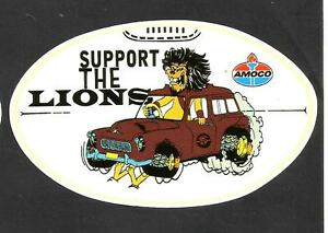 SUPPORT-THE-LIONS-Vinyl-Decal-Sticker-AMOCO-PETROL-PROMO-FITZROY-afl-vfl-OILS