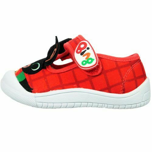 BING BUNNY OFFICIAL RED CANVAS PUMPS BOYS TRAINERS SHOES KIDS UK SIZE 4-9