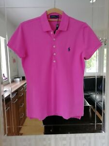 sports shoes e06d9 a88fb Details zu Original RALPH LAUREN POLO, Shirt mit Logo-Stickerei, Damen,  Pink, Gr.M, NEU!