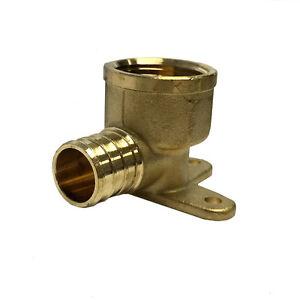 Libra Supply 3/4 inch, 3/4'' Pex Copper Drop Ear Elbow, Barb x FIP, 5pcs