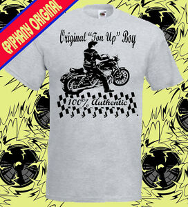 Ton-Up-Boy-Cafe-Racer-Mens-T-Shirt-Rockabilly-Psychobilly-Biker-t-shirt-50s-60s