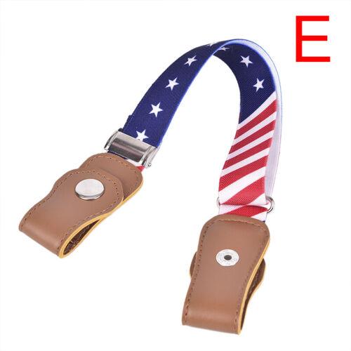 Elastic Buckle Free Waist Belt Stretch Belt Jeans Waistband Kids Boys GirlsCBL