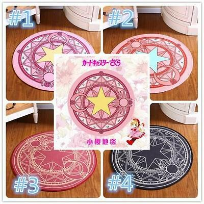 Card Captor Sakura Magic Circle Floor Mat Round Rug Door Room Mat Carpet  Q