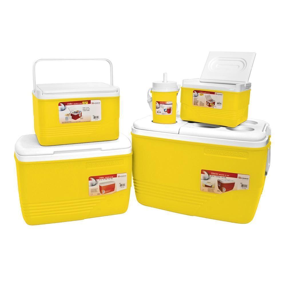 COOLER Box Set 5pc ICE petto Campeggio Picnic contenitori di cibo isolatoGiallo