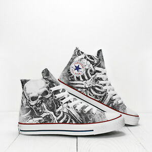 4bb8ec3ae9c124 Image is loading Skull-and-Rib-Bones-Custom-Converse-All-Star-