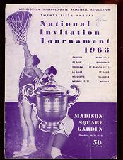 1963 NCAA NIT Final 4 Game Program Villanova Canisius Providence Marquette VG
