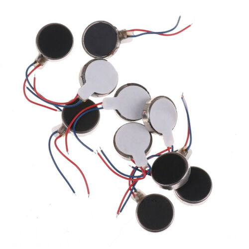 10x Coin Flat Vibrating Micro Motor DC 3V Fit For Pager and Cell Phone Mobile E/&