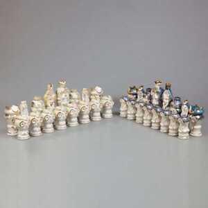 Soviet-Porcelain-Chess-Set-The-tree-of-life-Dulevo-Factory-1988