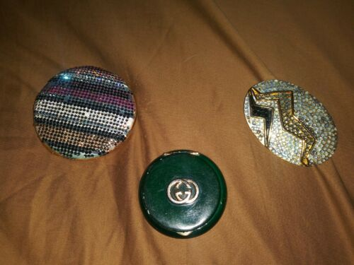 Vintage JUDITH LEIBER Rhinestone Compact Deco Fur