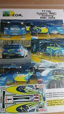 Decals 1/43 réf 706 Subaru WRC SOLBERG   Monte Carlo 2004