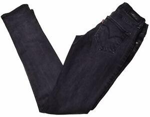 LEVI-039-S-Womens-Jeans-W28-L32-Black-Cotton-Skinny-Bold-Curve-N010