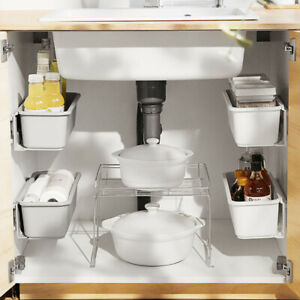 Kitchen-Rack-Holder-Storage-Shelf-Space-Saver-Organiser-Home-Bathroom-Box-Tools