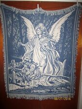 Angel & Children - Direct Thy Path Cotton Tapestry Afghan Throw Blanket