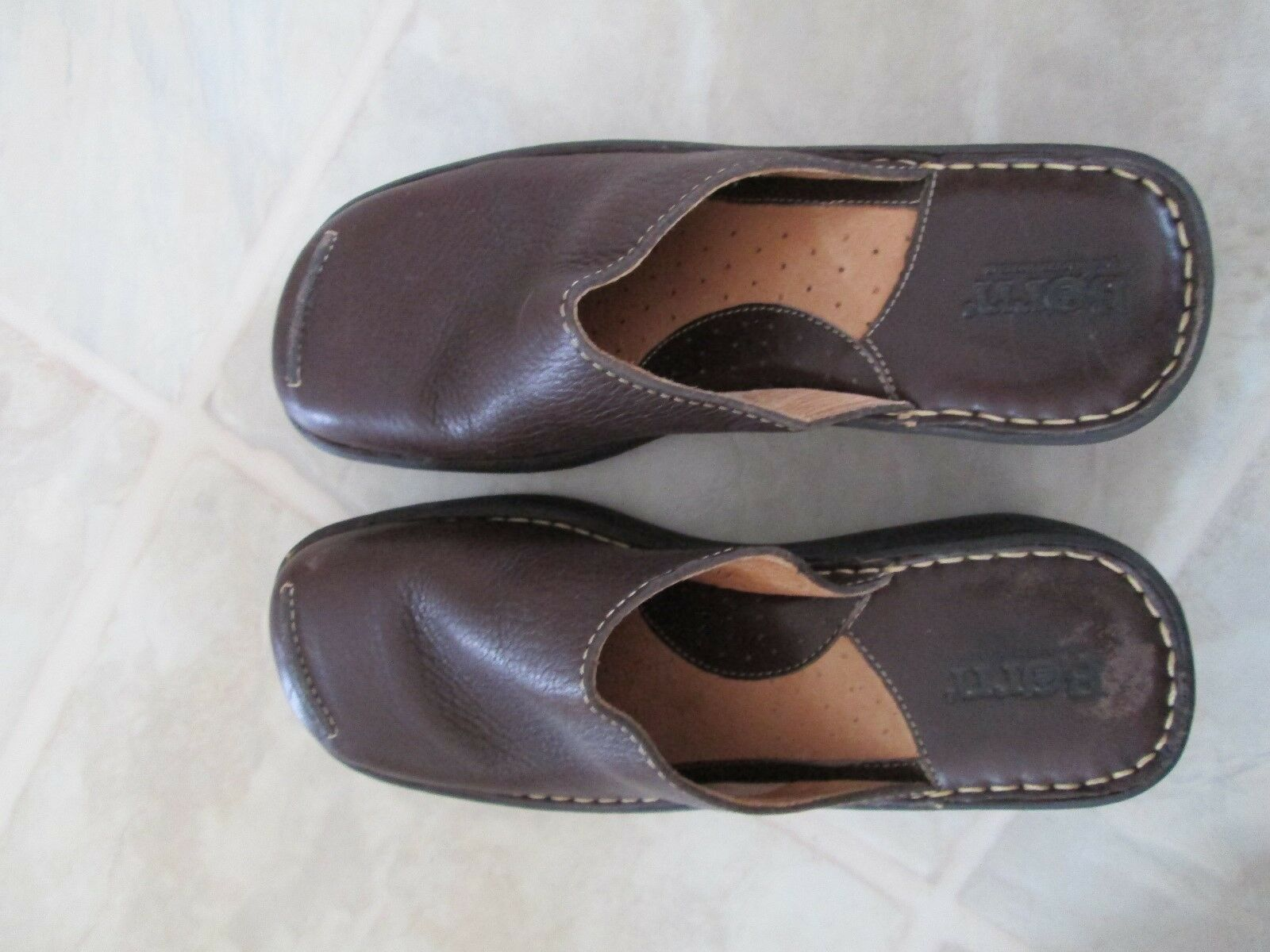BORN leather clogs 39 size 8 U.S.  39 clogs brown leather comfortable stylish 3aae8a