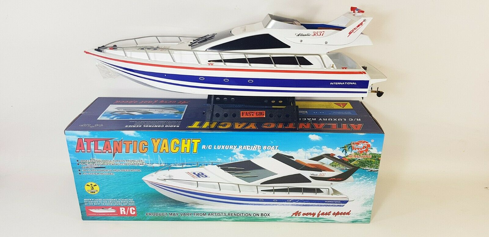 2.4G RC Speed Boat Atlantic Sail Jacht X2 Racing Boat Radio Control Ship UPGRADE