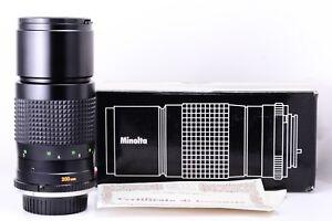 Minolta-200mm-f4-5-Mc-Tele-Rokkor-en-Mint-Conditions-With-Original-Emballage