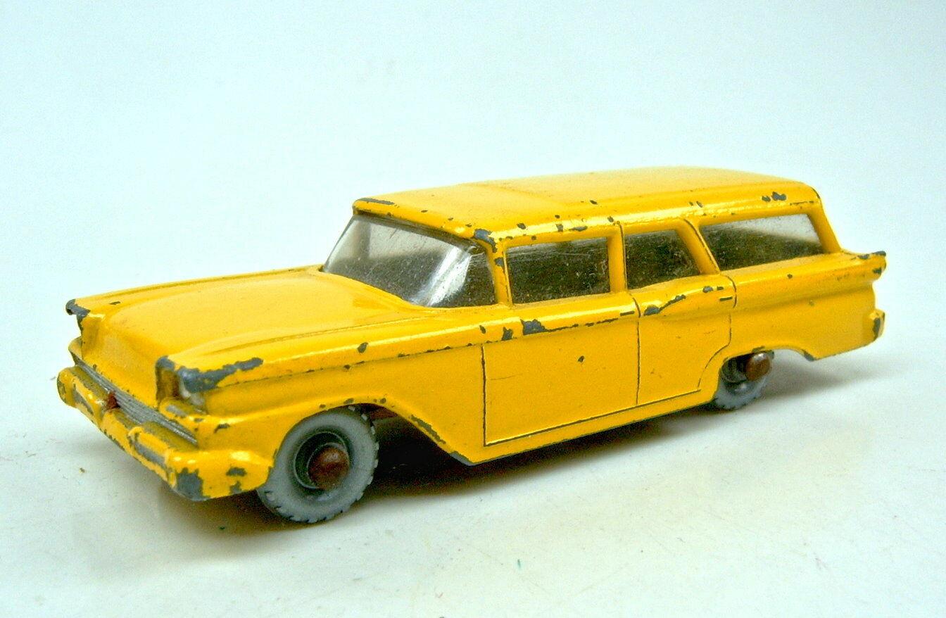 Matchbox RW 31b ford Station Wagon rare Coloreee giallo plateado de ruedas
