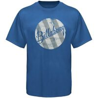 Billabong Planetary Wave Tee Mens Blue Cotton Blend T-shirt