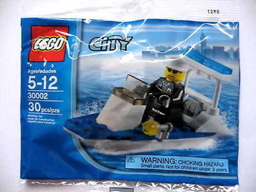 30002 POLICE PATROL BOAT promo city town lego minifigure NEW poly bag legos set