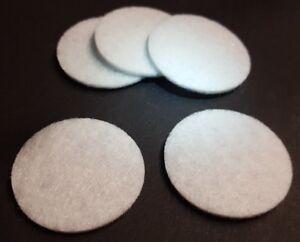 10 Weiße Filz Pads Für Medaillon Ätherische Öle Diffusor Anhänger Ø 30mm