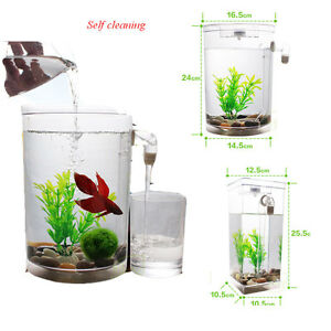 Self cleaning fish tank complete aquarium round and for How to properly clean a fish tank