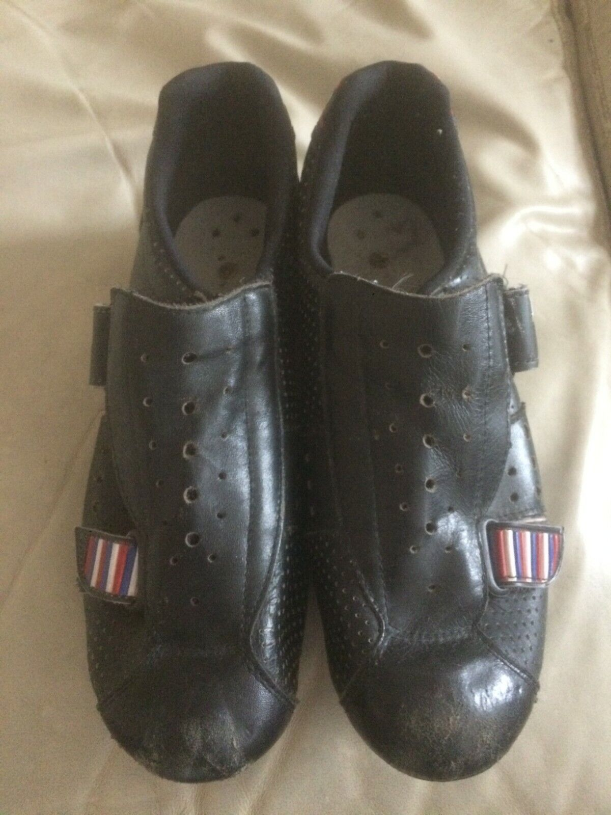 Pinarello leather cycling scarpe 42 made in  Look cleat compatible