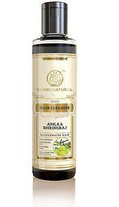 Khadi Natural Ayurvedic Amla and Bhringraj Hair Cleanser (Shampoo), 210 ml