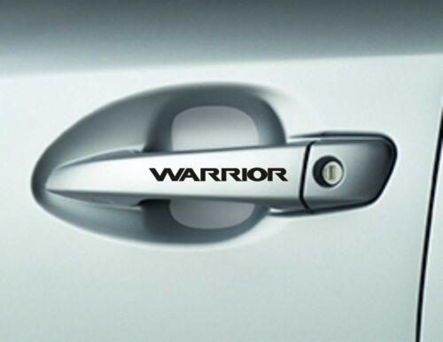 8 x Warrior Car Door Hadnle Decals Stickers Adhesives Car Sticker