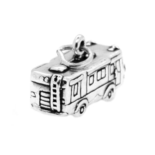 Sterling Silver Travel 3D RV Charme Pendentif