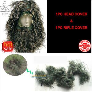 1Set-Hunting-Camo-Accessories-Head-Veil-Rifle-Cover-for-GhillieSniper-Paintball