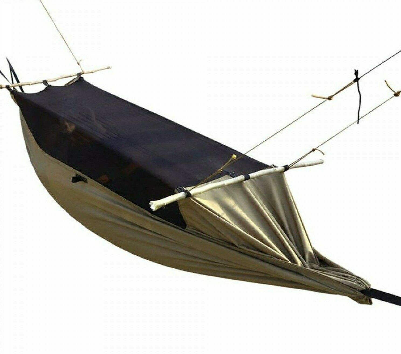 Military Hammock Tent Mesh Portable Camping Hiking Garden Tree Outdoor Fishing
